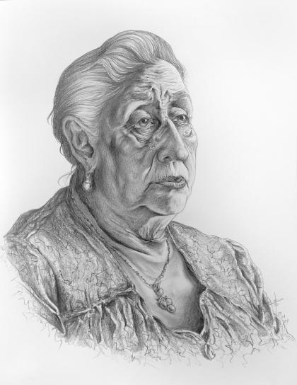 Retrato Madre para REPRODUCCION