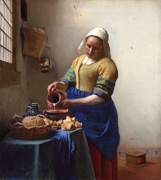 La lechera (1660)_Vermeer