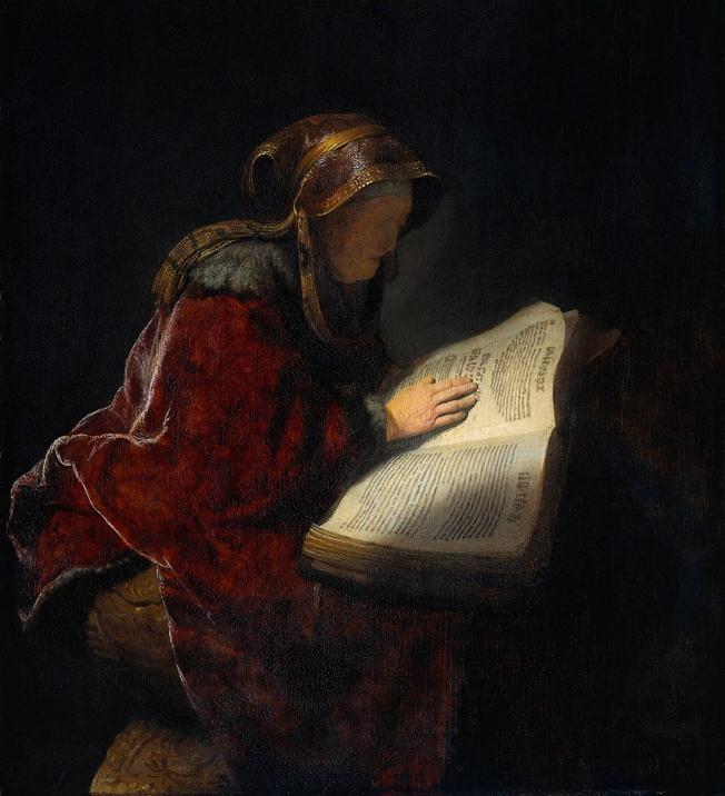 La profetisa Ana (1631)_Rembrandt