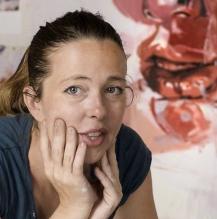 NPG x131356; Jenny Saville by Dennis Toff